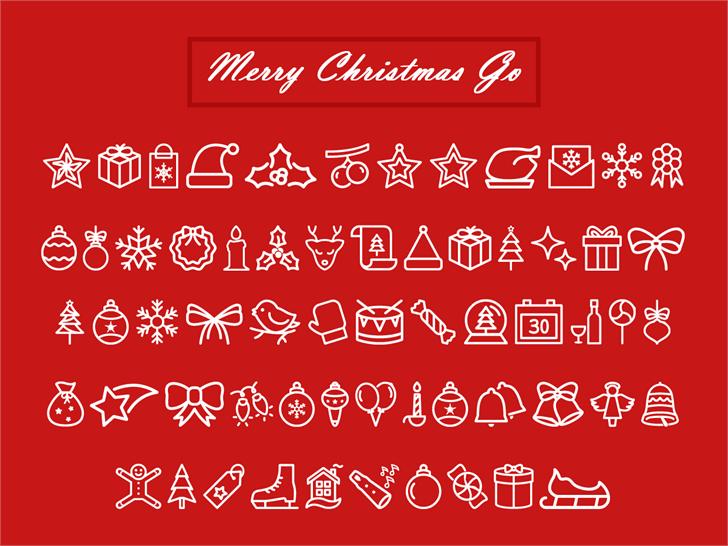 Merry Christmas Go font by Jamel E. Robin