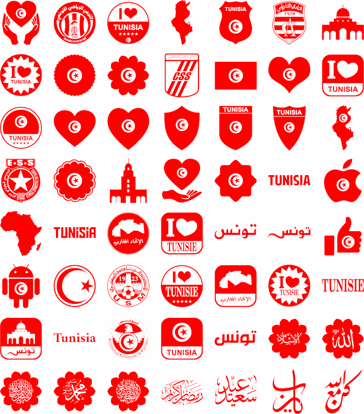 Font Tunisia Font illustration design