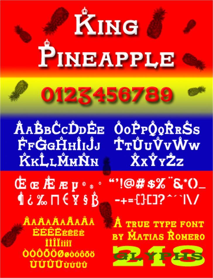 King Pineapple Font screenshot text