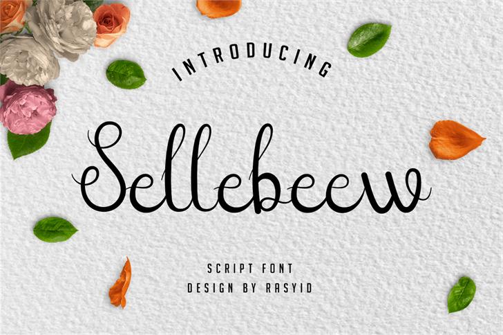 Sellebeew Font design