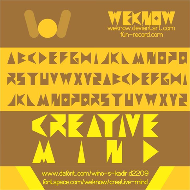 creative mind Font poster text