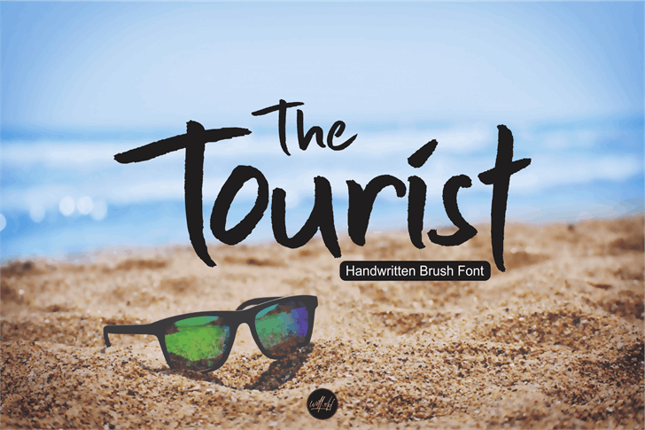 The Tourist Font poster