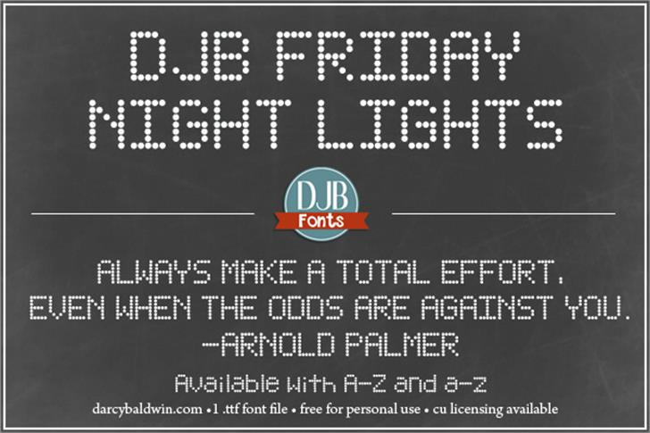 friday night lights font free download