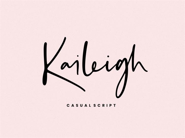 Kaileigh Font handwriting design