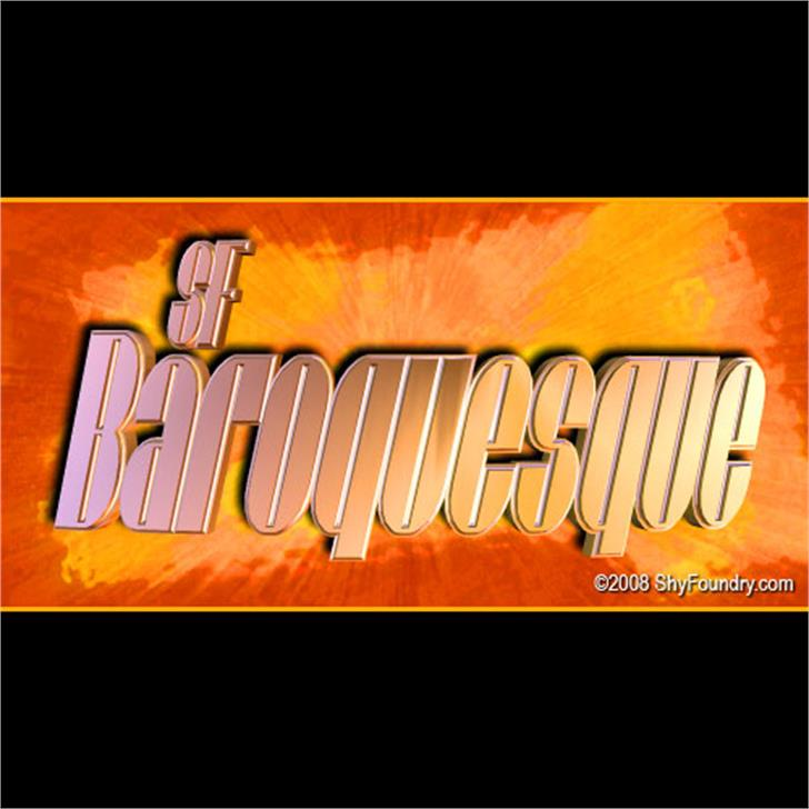 SF Baroquesque font by ShyFoundry