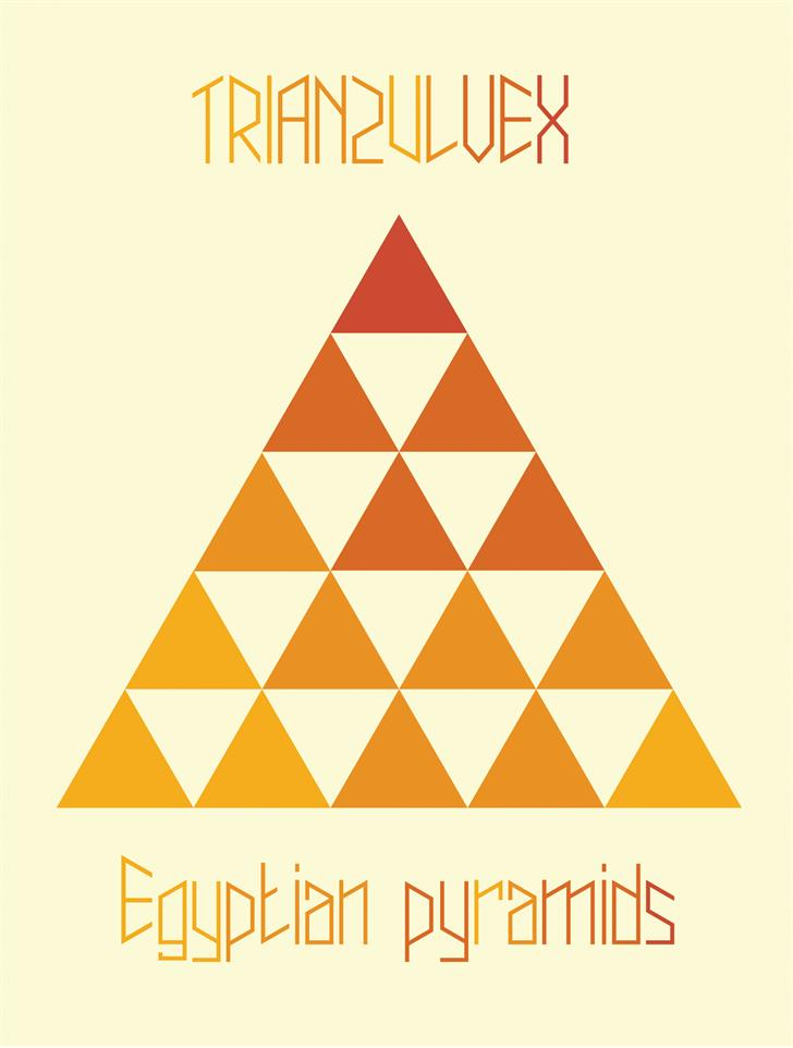 trianzulvex Font design geometry