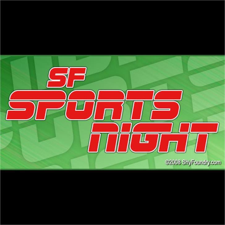 SF Sports Night Font screenshot baseball
