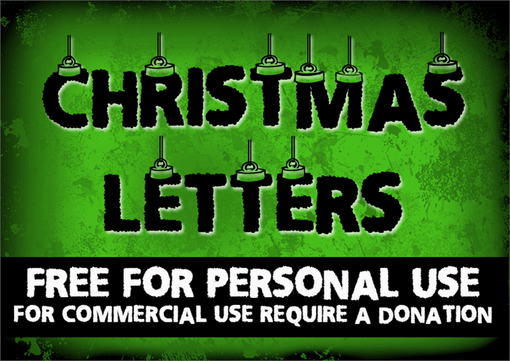 CF Chritsmas Letters Font poster text