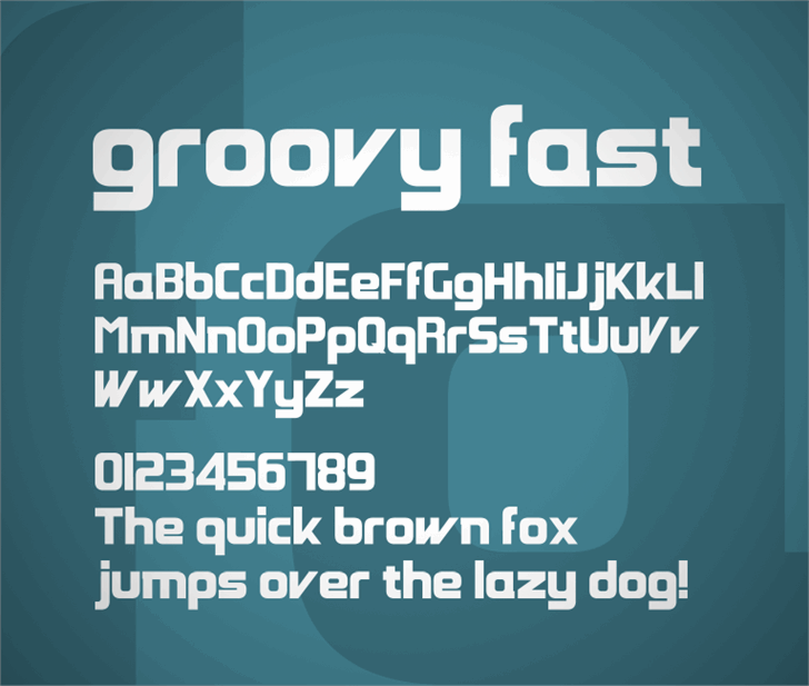 Groovy Fast Font screenshot design