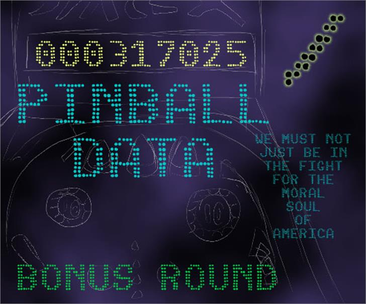 Pinball Data Font screenshot design