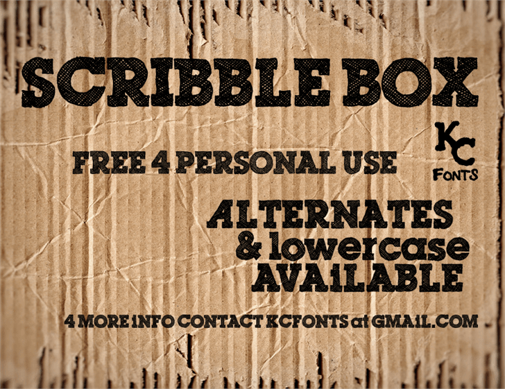 Scribble Box font by KC Fonts
