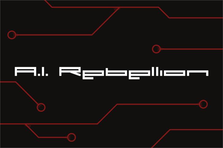 A.I. Rebellion Font screenshot design