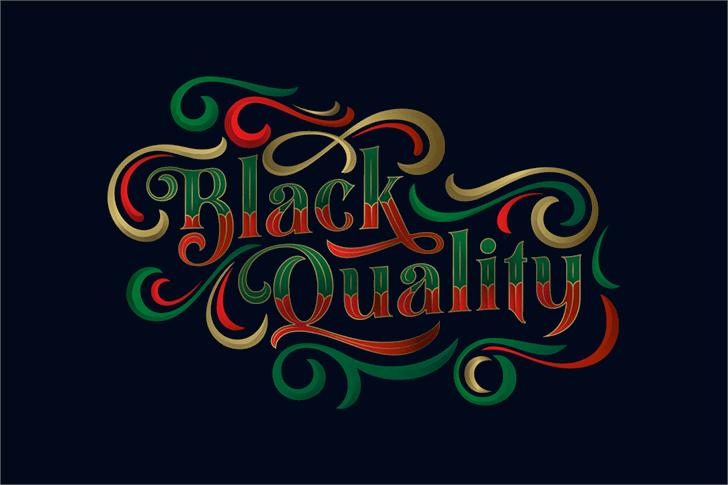 Black Quality Font poster