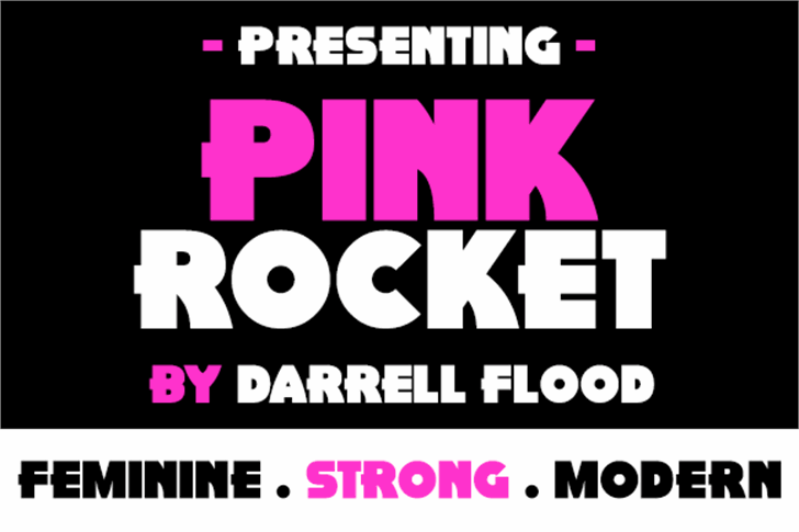 Pink Rocket Font poster screenshot
