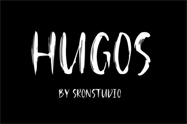 Hugos Font design text
