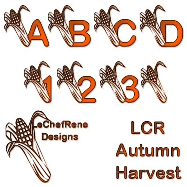 LCR Autumn Harvest Font design cartoon