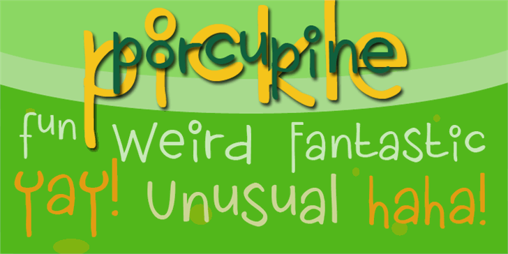 DK Porcupine Pickle font by David Kerkhoff