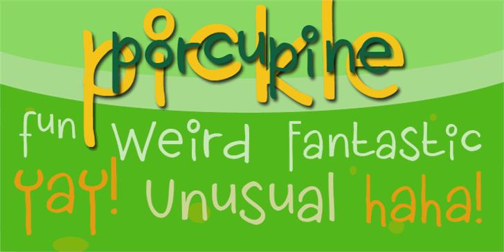 DK Porcupine Pickle Font design text