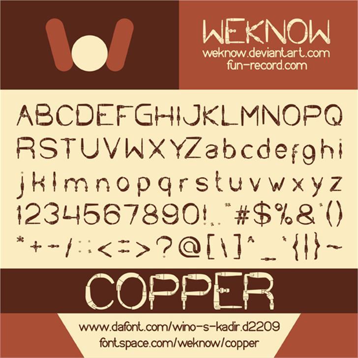 COPPER Font text screenshot