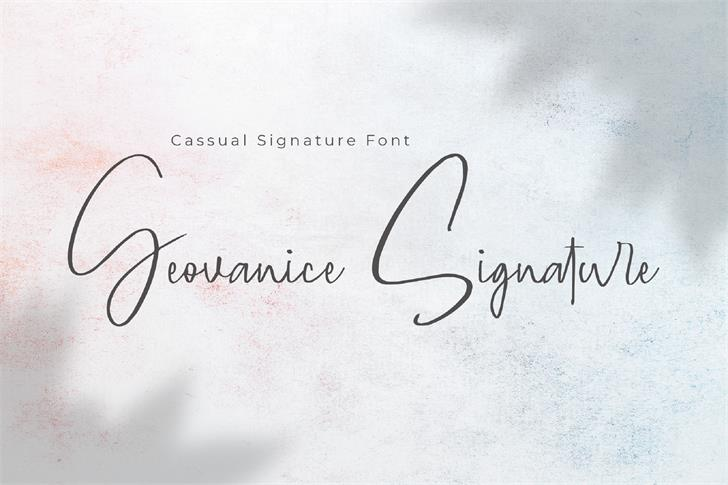 Geovanice Font poster