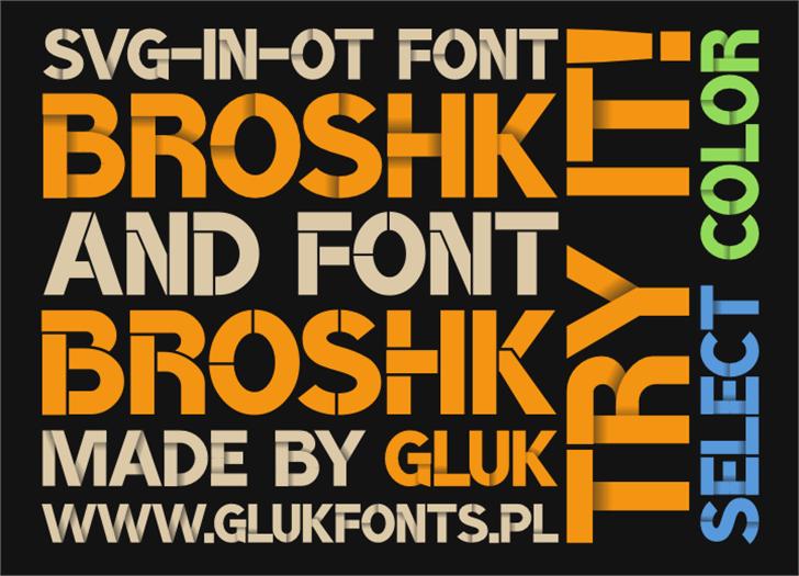 BroshK Font poster bottle