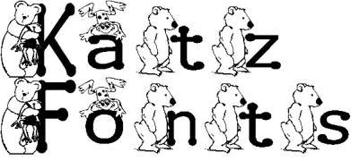 KG BEAR&FROG Font cartoon drawing