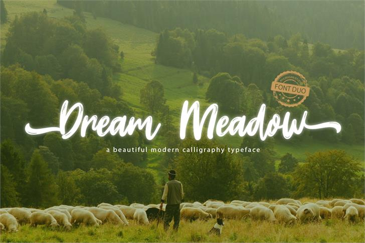 Dream Meadow Font tree sheep