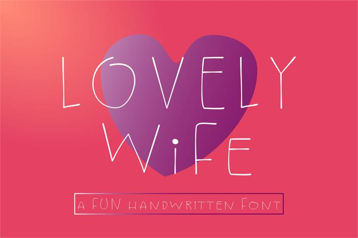 Lovely Wife Font poster