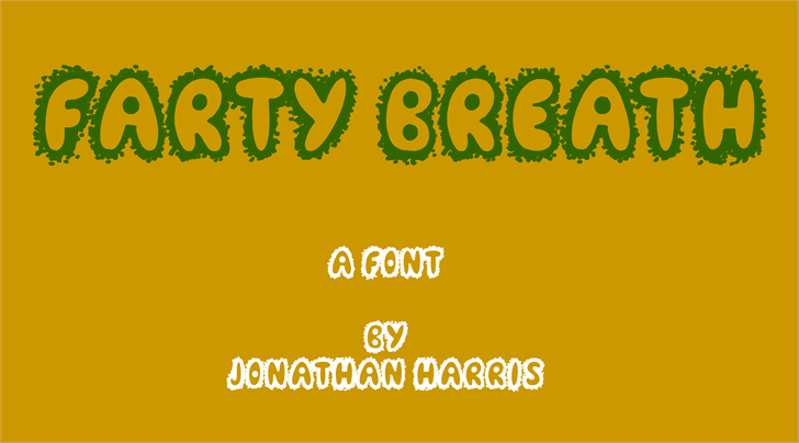 Farty Breath Font screenshot design