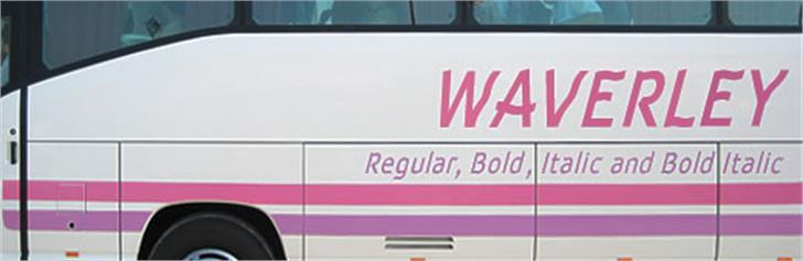 Waverley Font bus outdoor