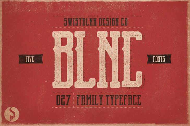 Garado Blnco Font poster book