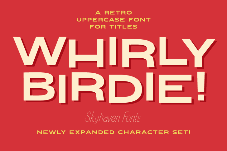 Whirly Birdie Font poster design