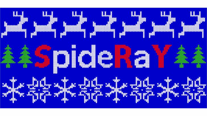 Christmas Jumper Font pattern majorelle blue