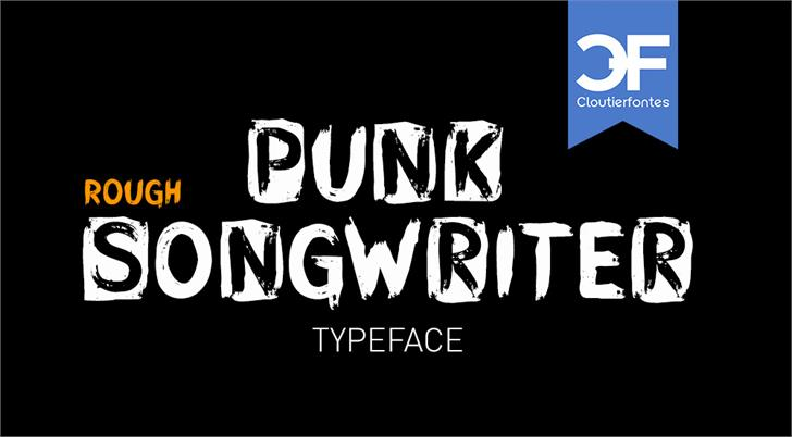 CF Punk Songwriter Rough PERSO Font design text