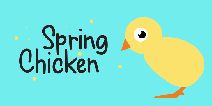 Spring Chicken DEMO Font cartoon bird