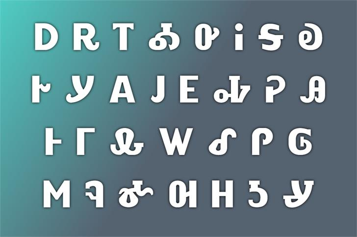 ALEWISDODI Font poster