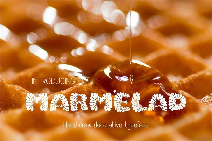 Marmelad Font outdoor object