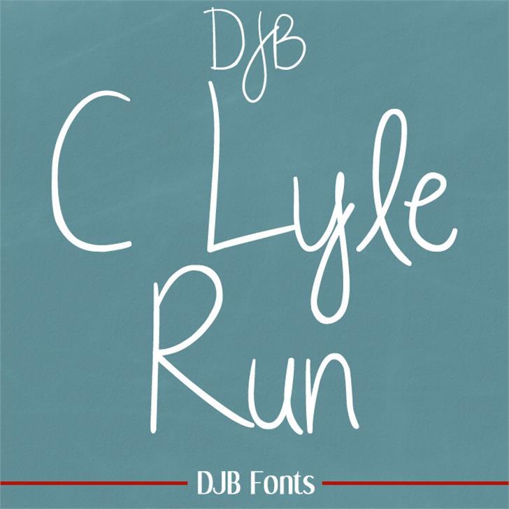 DJB CLyleRun Font blackboard handwriting