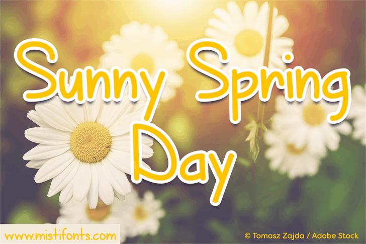 Sunny Spring Day Font plant flower