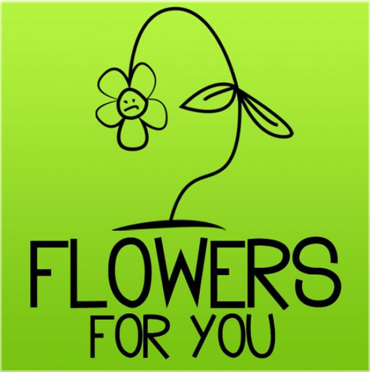 Flowers for you Font cartoon graphic