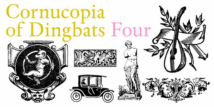 Cornucopia of Dingbats Four font by Intellecta Design