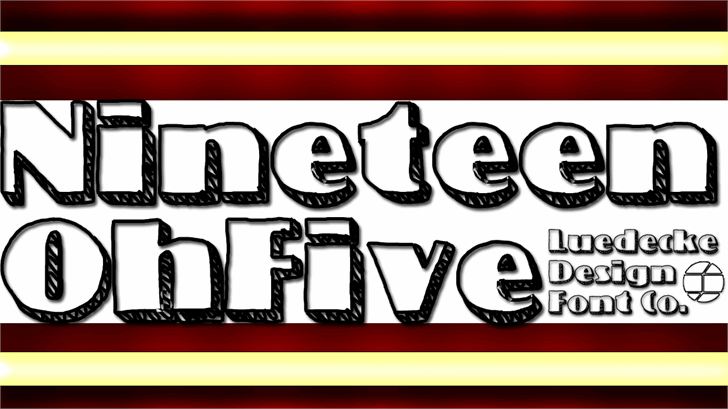 NineteenOhFive Font screenshot design