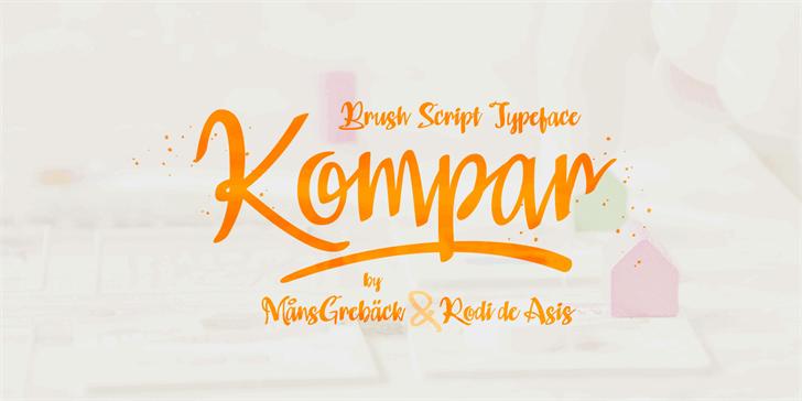 Kompar Light PERSONAL USE ONLY Font handwriting design
