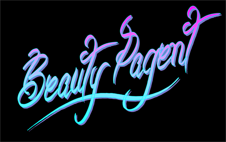 Beauty Pagent  Font design abstract