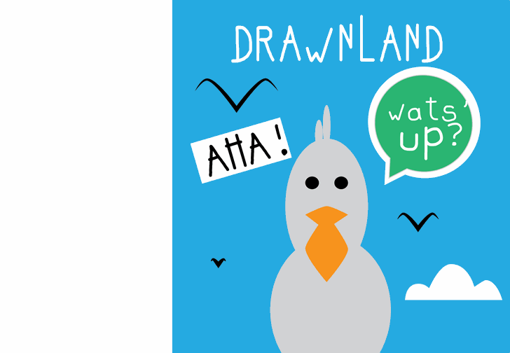 drawnland Font cartoon bird