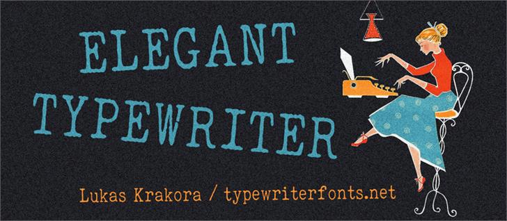 ELEGANT TYPEWRITER Font handwriting font