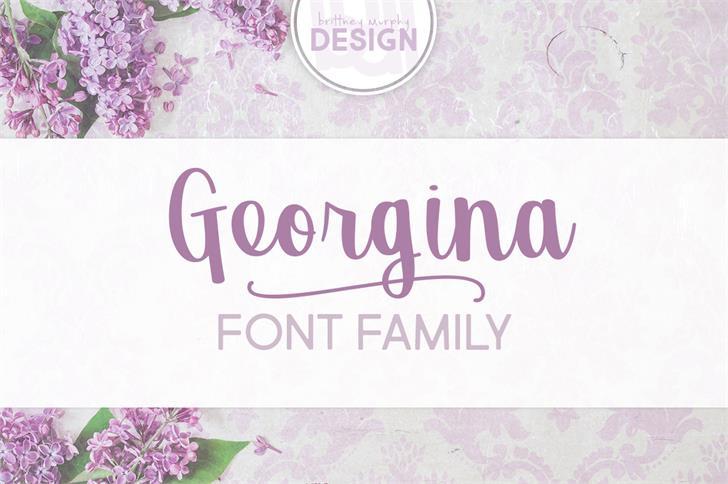 Georgina Font design handwriting