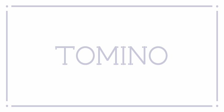 Tomino PERSONAL USE ONLY Font design screenshot