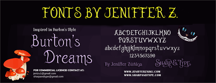 Burton's Dreams Pro Font screenshot text