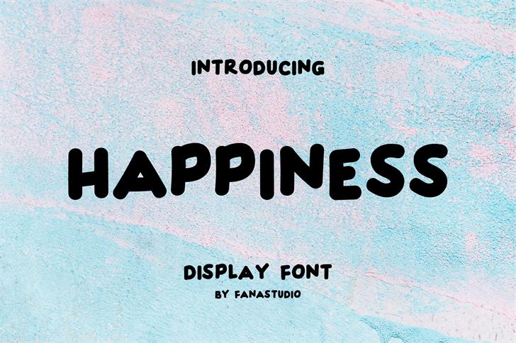 HAPPINESS font by FanaStudio